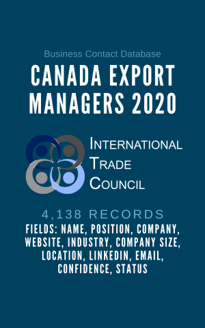 Canada Export Managers 2020