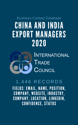China and India Export Managers 2020