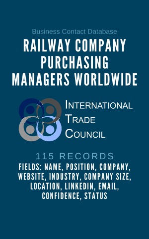 Railway Company Purchasing Managers Worldwide