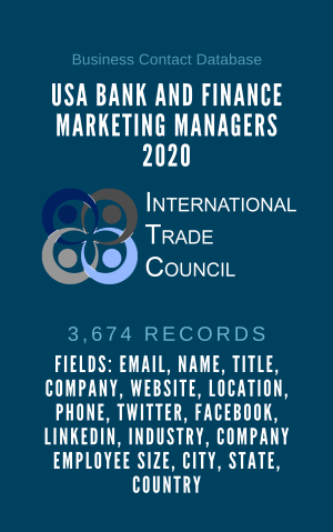 USA Bank and Finance Marketing Managers 2020