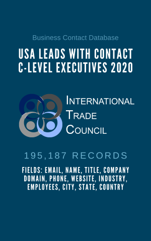 USA Leads With Contact C-Level Executives 2020