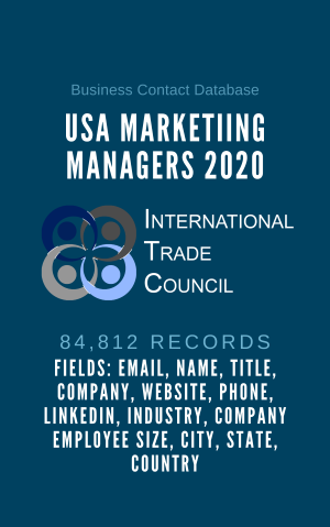 USA Marketiing Managers 2020