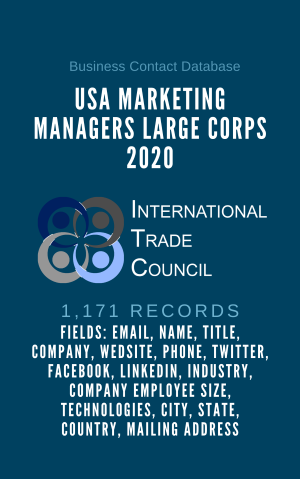 USA Marketing Managers Large Corps 2020