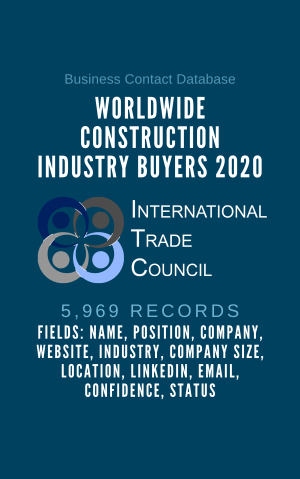 Worldwide Construction Industry Buyers 2020