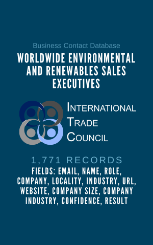 Worldwide Environmental and Renewables Sales Executives