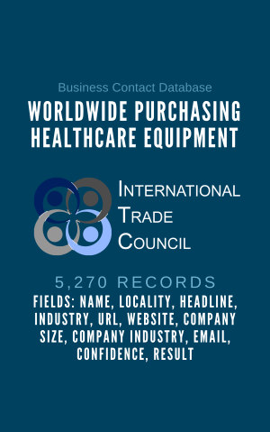 Worldwide Purchasing Healthcare Equipment