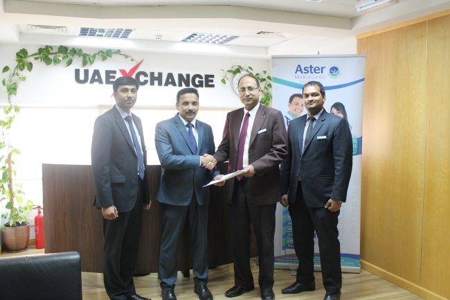 UAE Exchange signs MoU with Aster DM Healthcare SPC