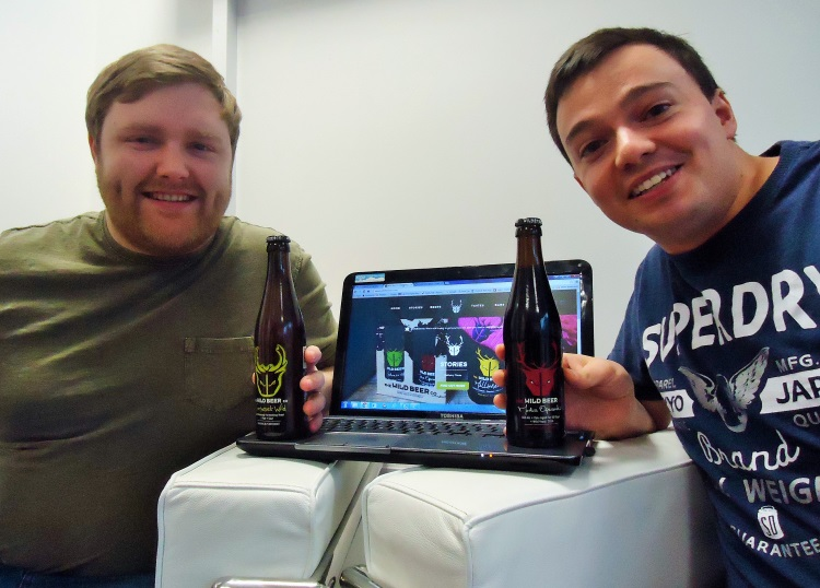 Matthew Horne (left) Daniel Wareing from Smart IT have helped deliver an IT led brewing system