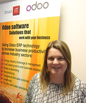 Jacqueline Bullen from Smart IT, now a leading Odoo partner in the UK.