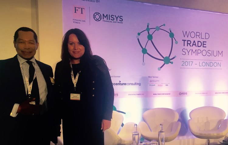 Nikole Read (ITC Chairperson for Canada) together with Lord John Taylor, Baron of Warwick (member of the House of Lords in the Parliament of the United Kingdom and ITC Representative to the World Trade Symposium)