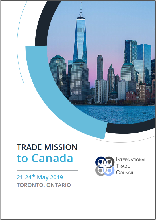 Official Trade Mission to Canada with the International Trade Council, a peak-body, non-profit chamber of commerce. Assisting organizations with international trade, exporting, importing, trade finance, technical barriers to trade and more.