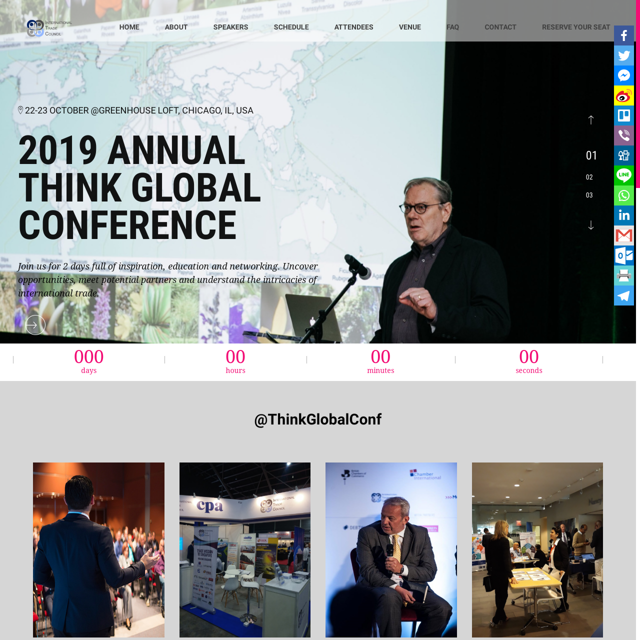 The Think Global Conference - the International Trade Council, a peak-body, non-profit chamber of commerce. Assisting organizations with international trade, exporting, importing, trade finance, technical barriers to trade and more.
